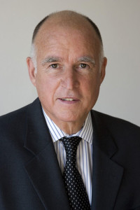 Jerry Brown's official picture as Attorney General and as Governor